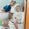 Picture of My Real Potty Training Toilet with Life-Like Flush Button & Sound - White