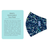 Picture of Adult Cup-style Cloth Mask - 1 pack - Colored Spackle on Navy