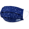 Picture of Adult Pleated Cloth Mask - 1 pack - White Lines on Blue