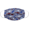 Picture of Adult Pleated Cloth Mask - 1 pack - Red, White, & Blue Sharks